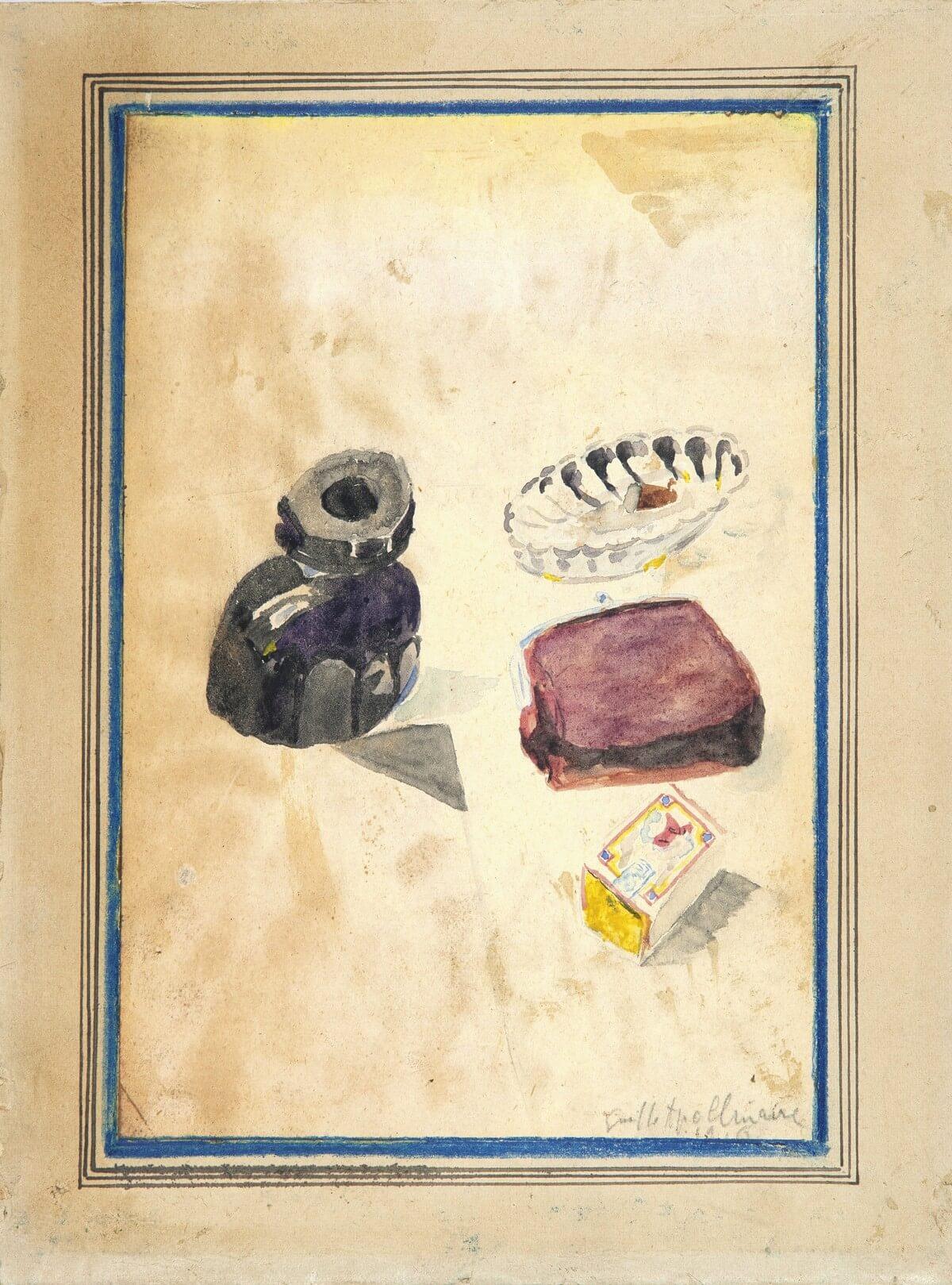 Guillaume Apollinaire. Aquarelle, frans leren, Vivienne Stringa