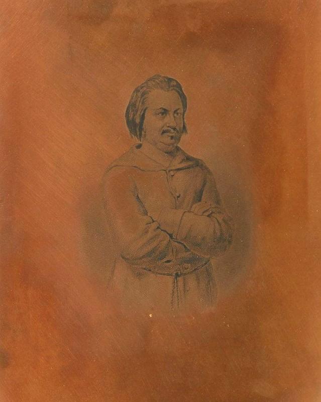 Z. Marcas,Portrait de Honoré de  Balzac, Paris, 1855. Plaque de cuivre gravée, Bertall (Albert d'Arnoux, dit) , Literaire teksten, frans leren , Vivienne Stringa