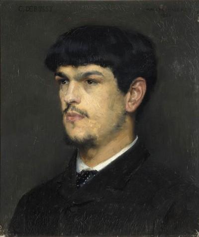 Claude Debussy. Monsieur Croche, antidilettante, Frans leren, Vivienne  Stringa.portrait de Claude Debussy  Par Marcel André Baschet