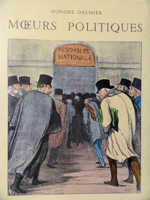 Le  Bon, Gustave (1841-1931) : Les Illusions des théories politiques (1910). Moeurs Politiques de Daumier Honoré. Frans leren, Vivienne Stringa