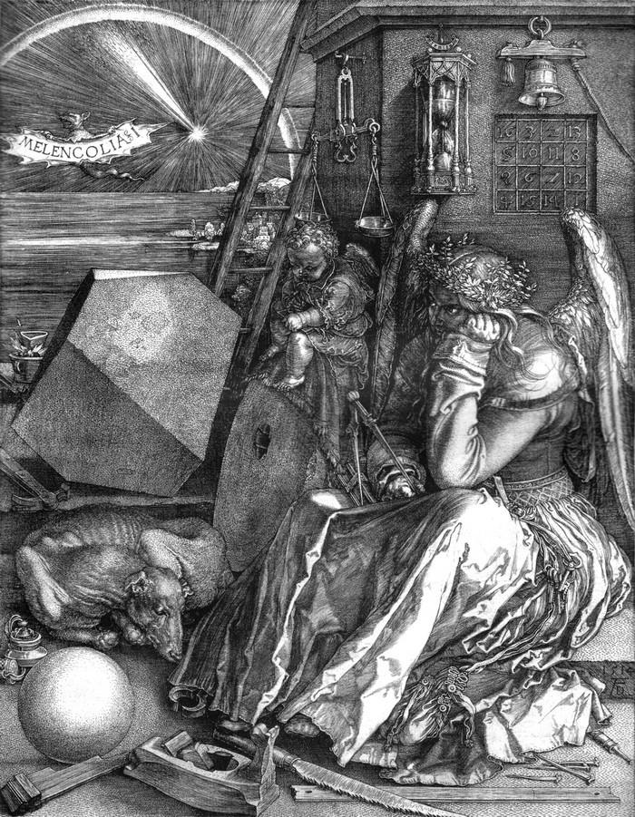 Odilon Redon, À soi-même.  Journal. Notes sur la vie l'art et les artistes(1922 ).  Aan zichzelf  / Dagboek / Notities over het leven, kunst en kunstenaars. Mélancolie. Gravure sur cuivre, 1514, Albrecht Dürer, Frans leren, Vivienne  Stringa