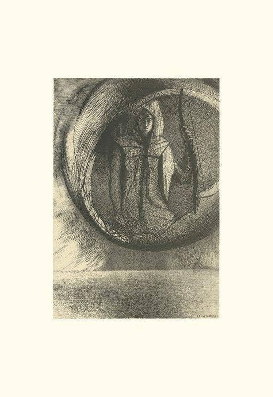 Et là-bas l'IDOLE ASTRALE, l'apothéose  | Odilon Redon. Guillaume Apollinaire. La chanson du Mal-Aimé. Et je chantais cette romance En 1903 sans savoir Que mon amour à la semblance Du beau Phénix s'il meurt un soir Le matin voit sa renaissance. Léo ferré. Frans leren, Vivienne Stringa