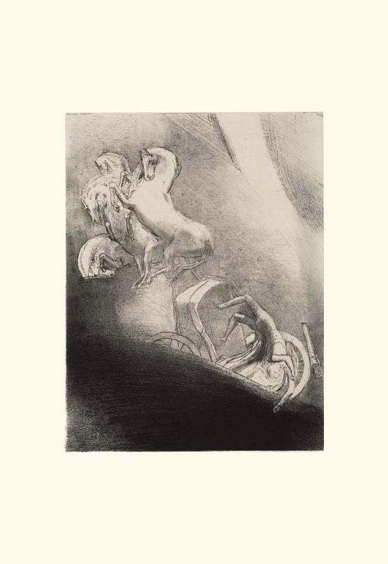 Il tombe dans l'abîme, la tête en bas. | Odilon Redon. Guillaume Apollinaire. La chanson du Mal-Aimé. Et je chantais cette romance En 1903 sans savoir Que mon amour à la semblance Du beau Phénix s'il meurt un soir Le matin voit sa renaissance. Léo ferré. Frans leren, Vivienne Stringa