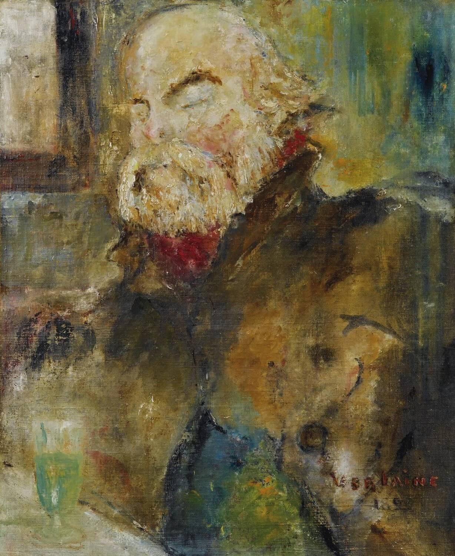 Paul Verlaine, 1893.Léo Ferré Préface Poèmes saturniens,Frans leren. Vivienne Stringa