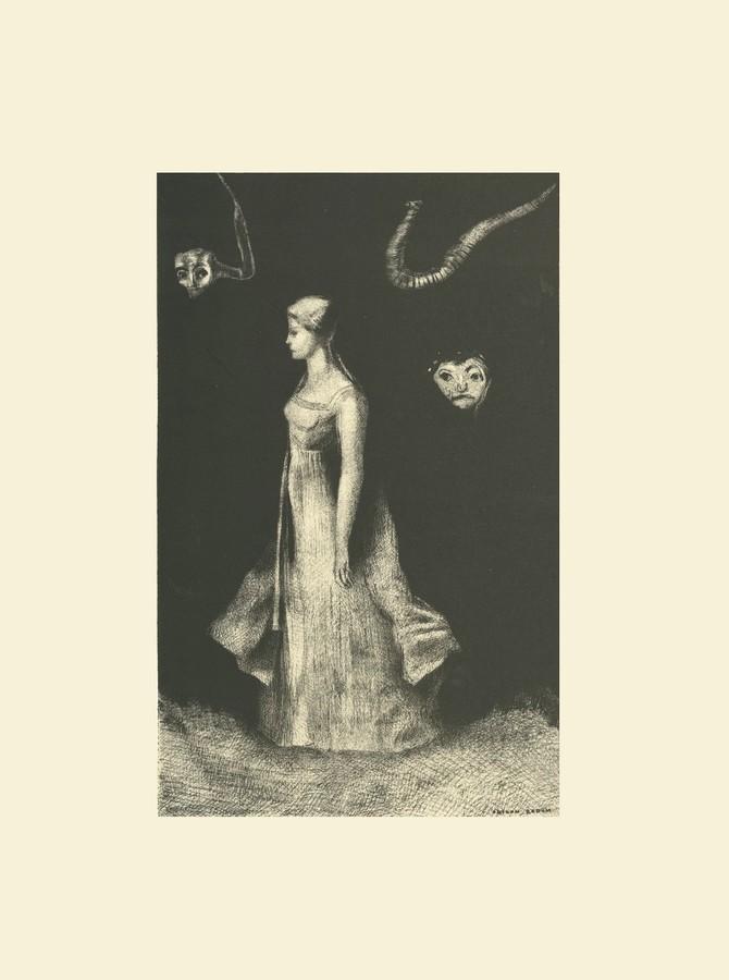 Guillaume Apollinaire - L'oeuvre du Marquis de Sade, introduction, frans leren, Vivienne Stringa. Hantise | estampe | Odilon Redon