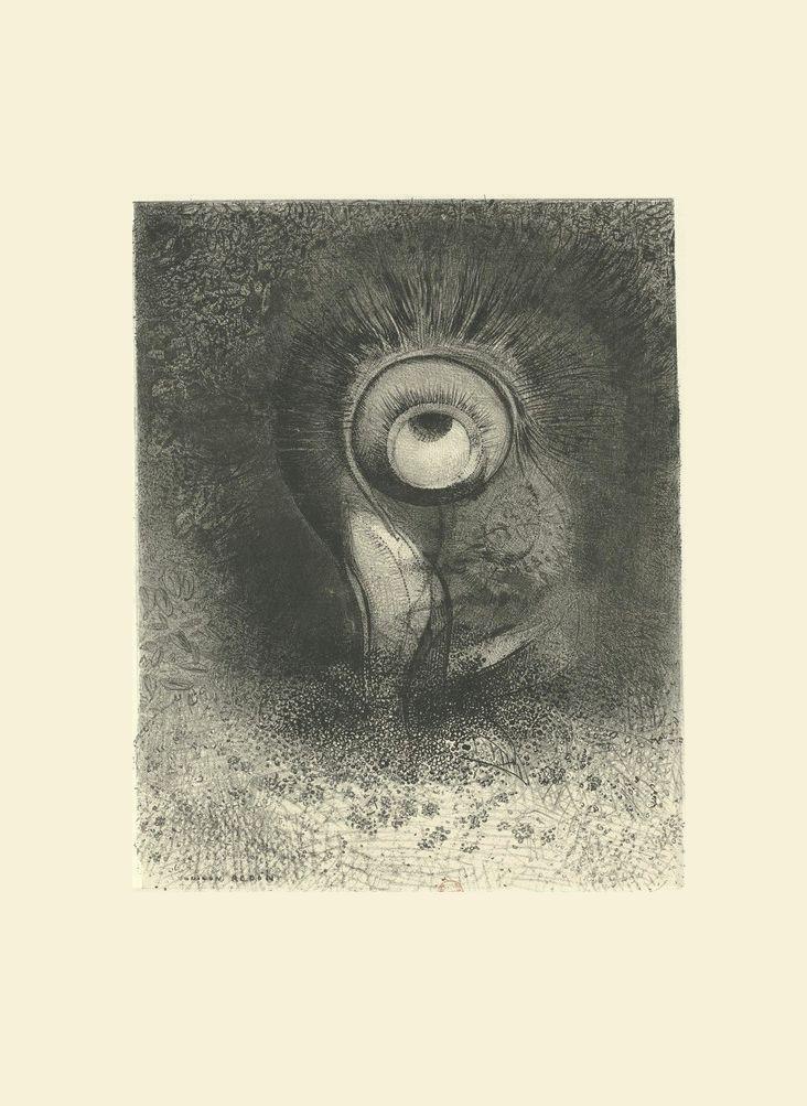 Guillaume Apollinaire - L'oeuvre du Marquis de Sade, introduction, frans leren, Vivienne Stringa. Il y eut peut-être une vision première essayée dans la fleur | estampe | Odilon Redon