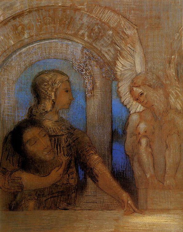 Charles Baudelaire - Les Paradis artificiels, frans leren, Vivienne Stringa. | Le chevalier mystique Odilon Redon