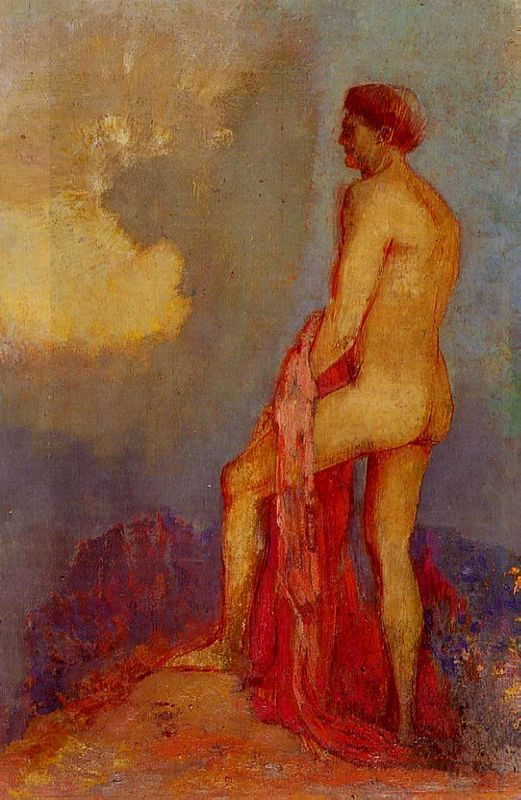 Charles Baudelaire - Les Paradis artificiels, frans leren, Vivienne Stringa. | Oedipe au jardin des illusions.  Odilon Redon