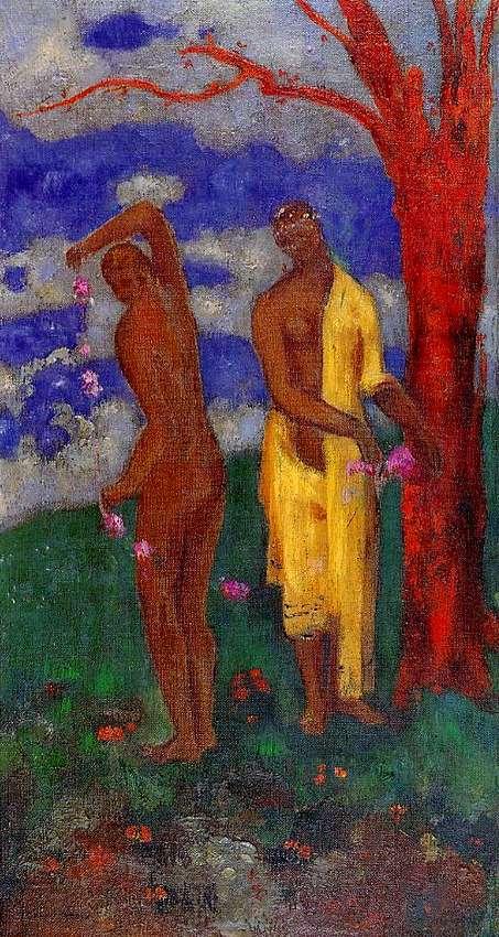 Charles Baudelaire - Les Paradis artificiels, frans leren, Vivienne Stringa. |   Arbre jaune. Odilon Redon