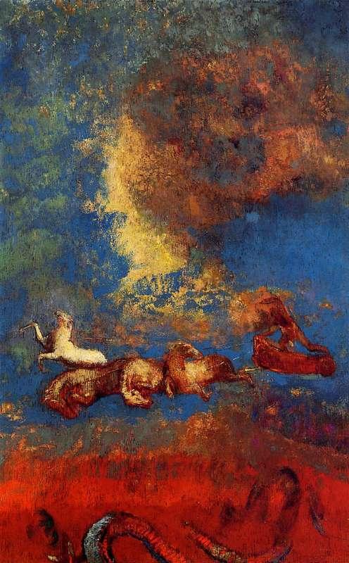 Charles Baudelaire - Les Paradis artificiels, frans leren, Vivienne Stringa. |Le char d'Apollon  Odilon Redon