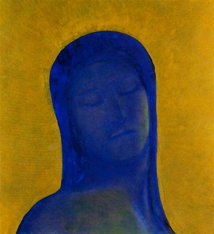 Charles Baudelaire - Les Paradis artificiels, frans leren, Vivienne Stringa. | Les yeux clos (1894) Odilon Redon