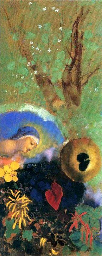 Charles Baudelaire - Les Paradis artificiels, frans leren, Vivienne Stringa. | Hommage à Léonard de Vinci (1908) : Odilon Redon