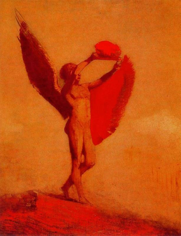 Charles Baudelaire - Les Paradis artificiels, frans leren, Vivienne Stringa. | Icare : Odilon Redon