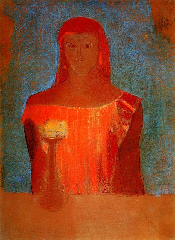Charles Baudelaire - Les Paradis artificiels, frans leren, Vivienne Stringa. | Lady Macbeth, 1898 Odilon Redon