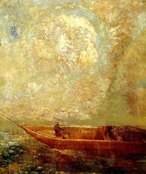 Les Paradis artificiels. Charles Baudelaire, Frans leren, Vivienne Stringa. Odilon Redon, le bateau, 1901
