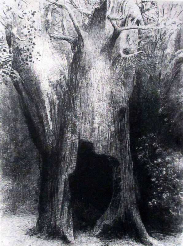 Une saison en enfer. Arthur Rimbaud.  Jadis, si je me souviens bien, Mauvais sang, Nuit de l'enfer, Délires I Vierge folle, L'Époux infernal, Délires II , Alchimie du verbe, L'impossible, L'éclair, Matin, Adieu. Je me suis enfoncé dans la solitude. J'habitais l'arbre derrière moi, Odilon Redon, 1896Frans leren Vivienne Stringa.