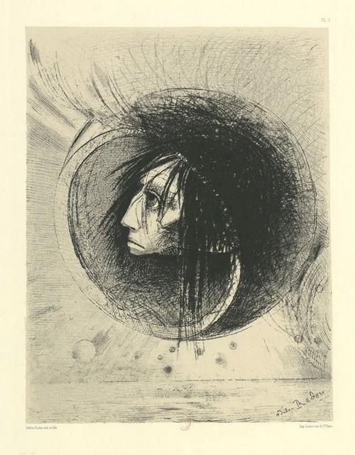À Charles Baudelaire, dans Léo Ferré chante Baudelaire, frans leren , Vivienne Stringa. Éclosion. Estampe Odilon Redon