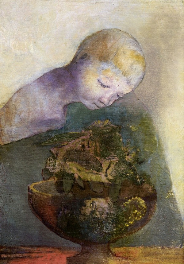 Odilon Redon ; La Coupe du Devenir Poète... vos papiers!  Léo ferré Poésie. kunst en kunstenaars. Frans leren, Vertaling,  Vivienne  Stringa