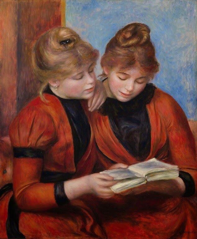 Tekstbegrip Frans, 92% des étudiants préfèrent lire sur un support papier plutôt que sur tablette, Auguste Renoir - Jeunes Filles lisant (Les Deux Sœurs), Tekstbegrip Frans leren, Vivienne Stringa