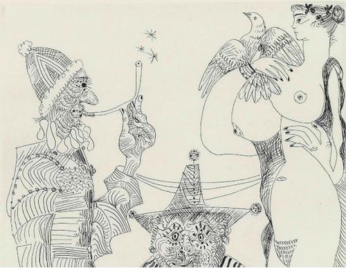 PABLO PICASSO Rêveries d'Opium: Fumeur en Calotte papale. Paradis artificiels didactische video's, texte scholen, docenten, texte audio Uitgeverij gespreksvaardigheid oefenen, erk-normen methode spreekvaardigheid, paradis artificiels
