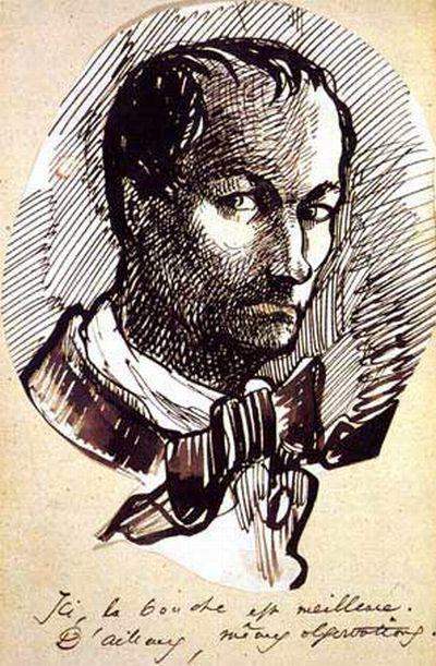 Baudelaire, autoportrait, 1860
