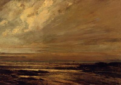 La Plage à Trouville, Gustave Courbet