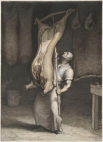 Honoré-Victorin Daumier Le Boucher