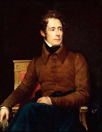 Alphonse de Lamartine. par François Gérard