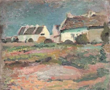 Peinture à l'huile 'Maisons à Kervilahouen, Belle-Ile' Henri Matisse