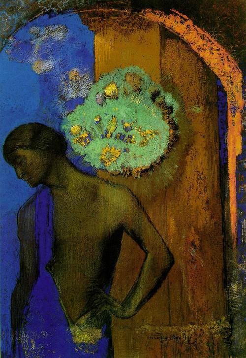 Odilon Redon, Saint-Jean, 1892. Léo Ferré, Paris, je ne t'aime plus