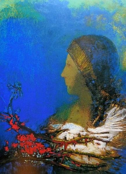 Redon Odilon.Onderdrukking,(l'oppression), Léo ferré,vertalingen, frans leren, Vivienne Stringa