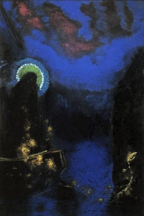 Vierge nimbée, par Odilon Redon