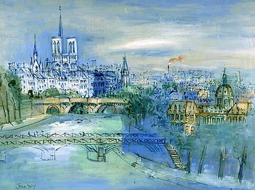 Jean Dufy. Paris, la Seine et Notre-Dame